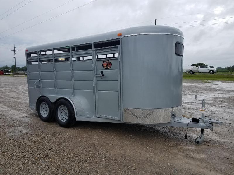 New 2021 BrushPopper 16 ft BP Livestock Trailer