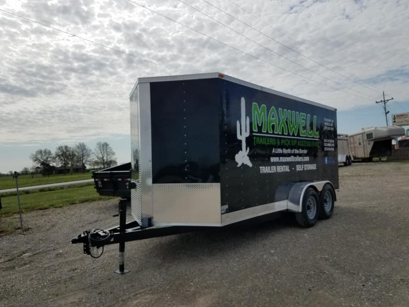2021 Maxwell 7x16 Rental Cargo / Enclosed Trailer