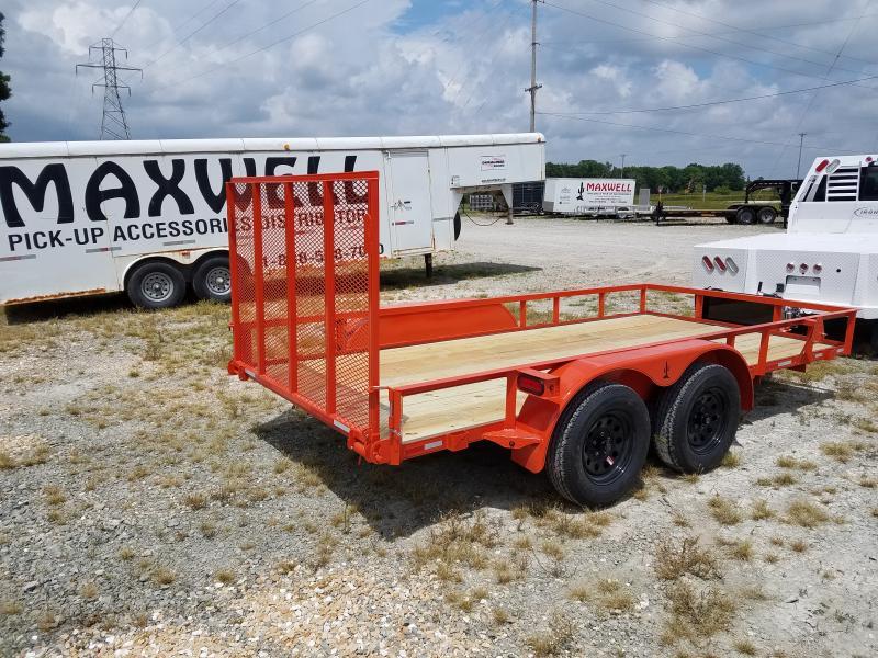 2021 Maxwell 77x14' Railed Utility Trailer