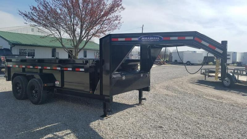 New Maxwell 83 x 16 14K Low Pro Gooseneck Dump Trailer