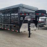 New 2019 Delco 24 ft Gooseneck Livestock Trailer