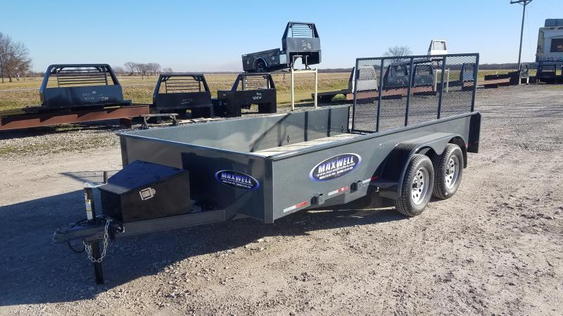 "2021 Maxwell 83""X14' Solid Side Utility Trailer *"