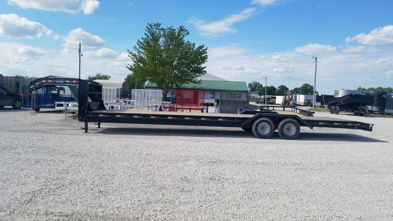 2021 Delco Trailers Gooseneck LoPro Flatbed Car / Racing Trailer