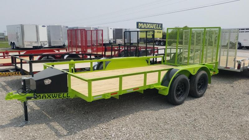 2021 Maxwell TA Railed Utility Trailer
