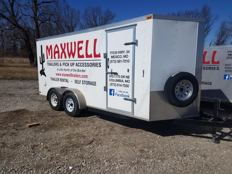 2016 Maxwell 7X16 RENTAL Enclosed Cargo Trailer