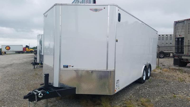 2020 H and H Trailer Tandem V nose Enclosed Cargo Trailer