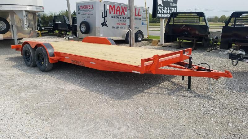 2021 Maxwell TA Flatbed Car / Racing Trailer