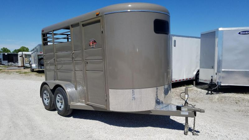 2021 Maxwell BrushPopper 2 Horse Trailer