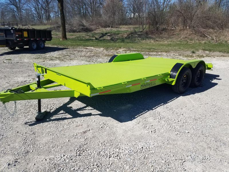 2021 Maxwell 83X18 Steel Floor Car / Racing Trailer