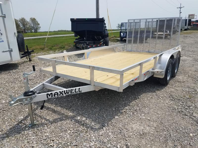 2021 Maxwell 83x14 Aluminum Utility Trailer