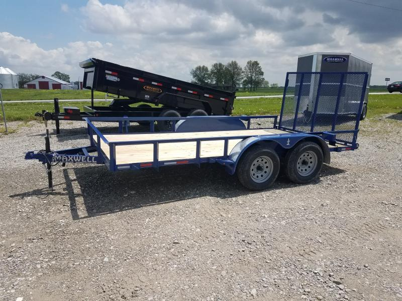 2021 Maxwell 83x14 railed Utility Trailer