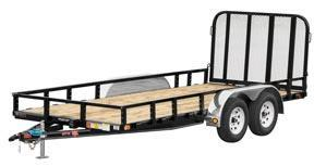 "2019 PJ Trailers 18'x83"" Tndm Axle Channel Utility Trailer"