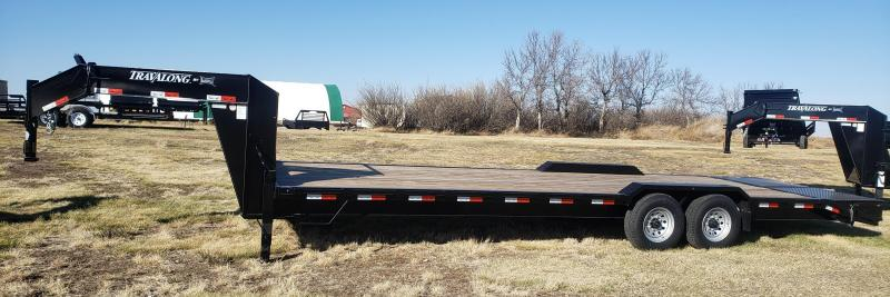 "2021 Travalong 102"" x 27' GN LOWBOY Flatbed Trailer"