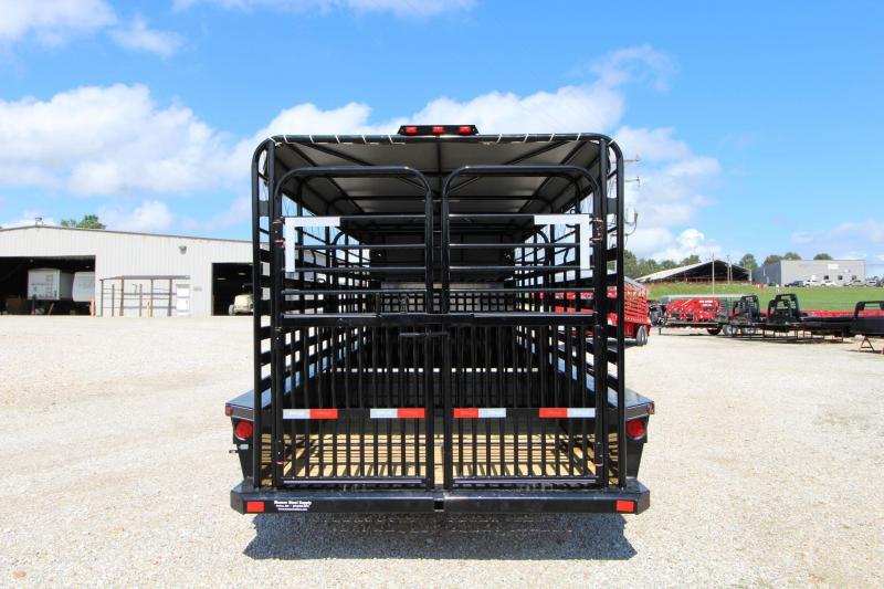 2022 Delco Trailers B820R72BK Livestock Trailer