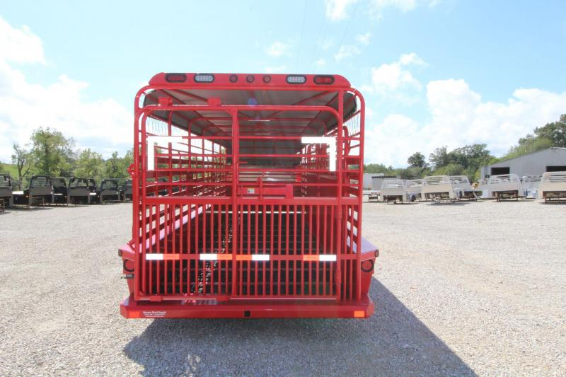 2022 Delco Trailers B824R727R Livestock Trailer