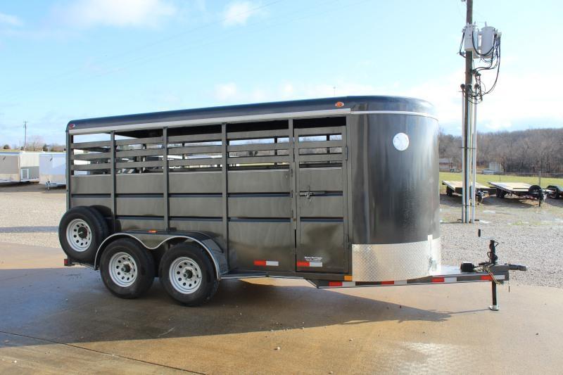 2021 Delco Trailers 6x16 Livestock Trailer