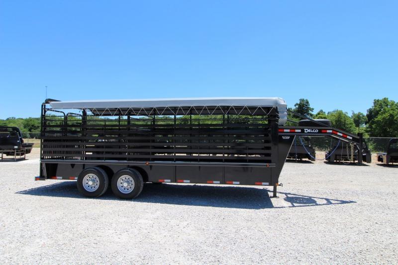 2021 Delco Trailers Bar Top Livestock Livestock Trailer