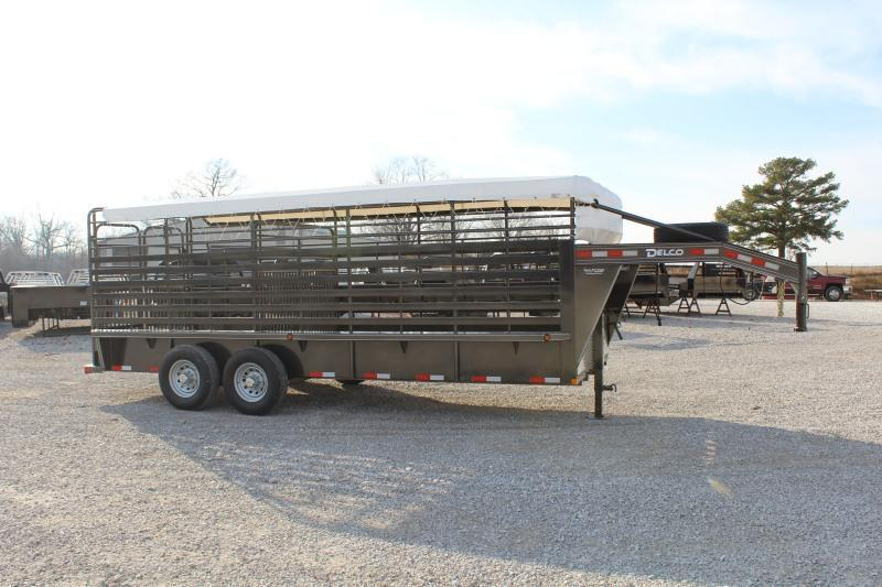 2021 Delco Trailers Bar Top Livestock Livestock Trailer