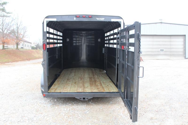 2021 Delco Trailers Bumper Pull Livestock Livestock Trailer