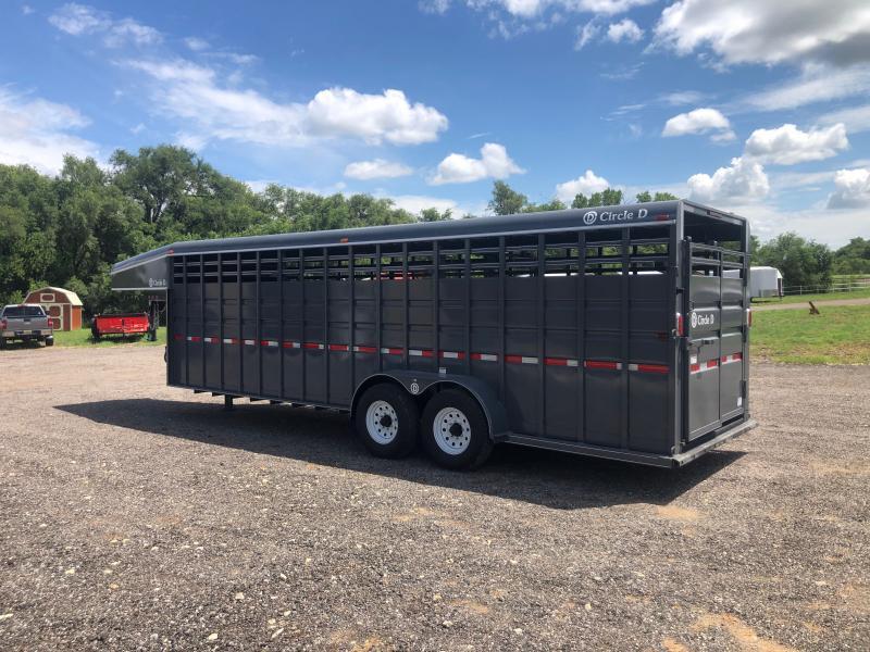 "2020 Circle D 6'8""X24' GN Livestock Trailer"