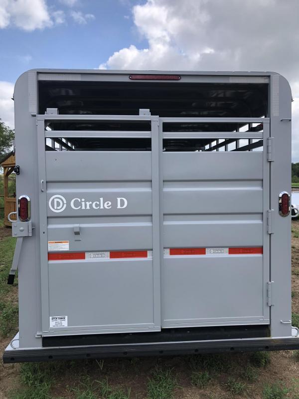 "2019 Circle D 6'8""X24' Livestock Trailer"