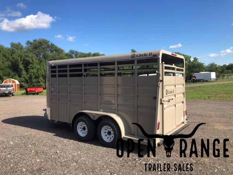 2021 Circle D 6X16 Livestock Trailer
