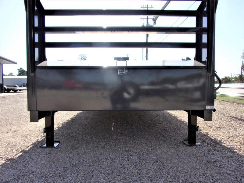 "2021 LAMAR 102"" X 40' HD GOOSENECK LOWBOY / CAR HAULER GVWR 21K"