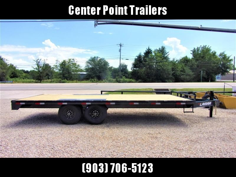 "2021 Lamar Trailers 102"" X 22' BP Deck-Over Flatbed GVWR 14K"