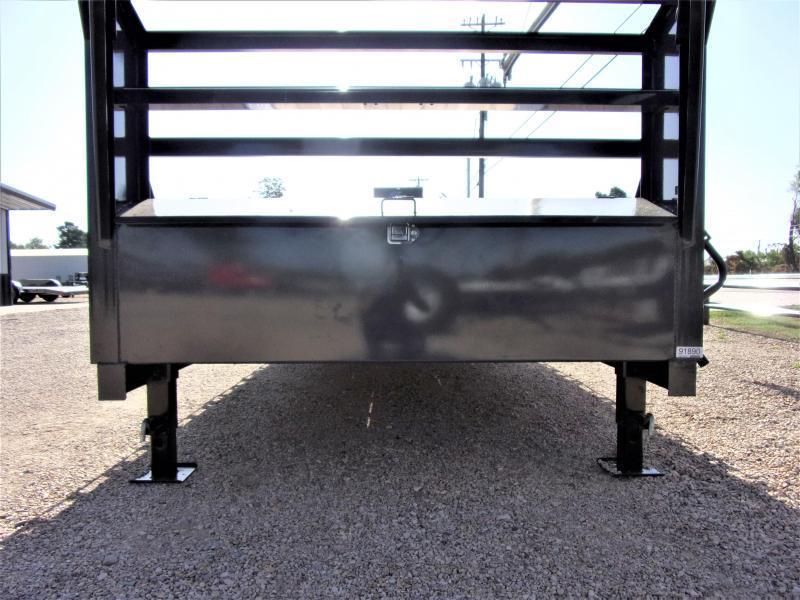 "2021 LAMAR 102"" X 36' HD GOOSENECK LOWBOY / CAR HAULER GVWR 21K"