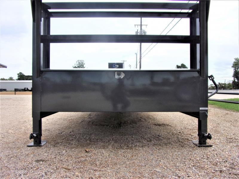 "2021 BOSS TRAILERS 102"" X 32' HD GOOSENECK LOWBOY / CAR HAULER GVWR 14K"