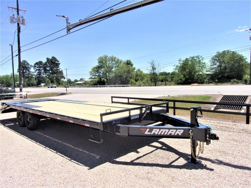 "2021 Lamar Trailers 102"" X 24' BP Deck-Over Flatbed GVWR 14K"