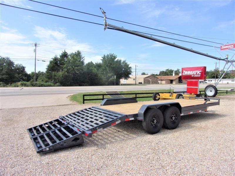 "2021 Lamar 83"" X 22' Bumper Pull Equipment Hauler GVWR 14K"