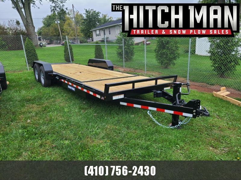 7' x 22' (18'+4') Sure-Trac Tilt Bed Equipment Trailer 14K  **w/4' Stationary Deck