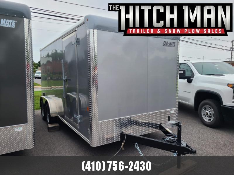 "7 x 16 Car-Mate Custom Cargo 7k  ***Silver w/ 6"" Extra Height"