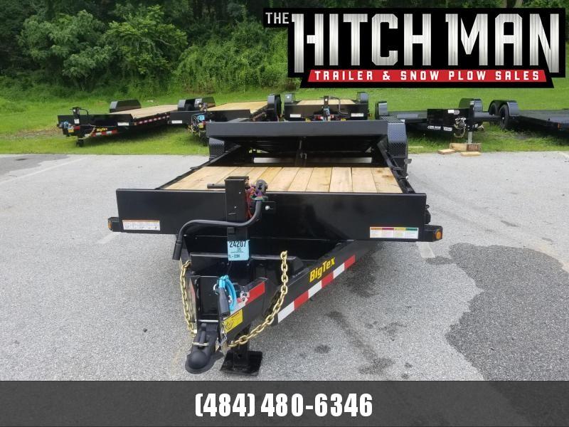 7 x 16+6 Big Tex Tilt Equipment Trailer 14k