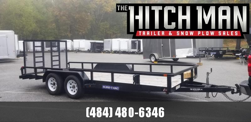 2018 Sure-Trac 7 x 18 Tube Top Landscape Utility Trailer