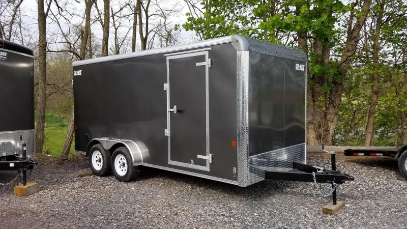 7 x 16 Car-Mate Custom Cargo 7k Gray