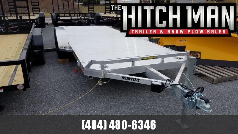 "6'10"" x 18 Aluma 8218 Aluminum Tilt Bed Car Trailer 7k"