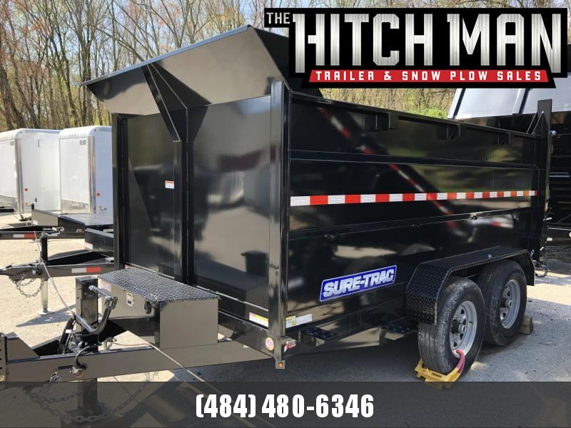 Sure-Trac 82in x 12 HD Scissor Dump 4' High Sides Trailer 14k