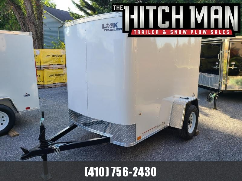 5 x 8 Look ST Enclosed Cargo Trailer 3k  **White