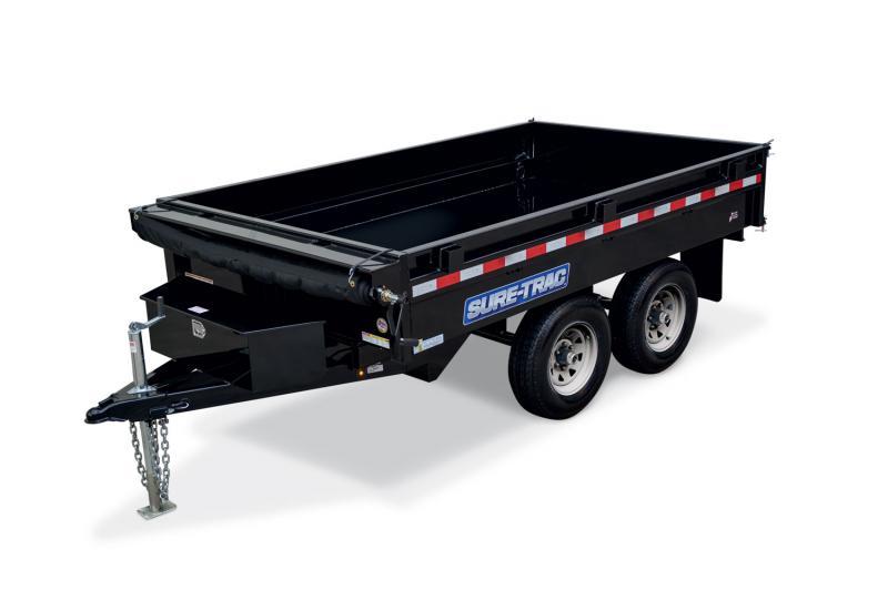 Sure-Trac 72in x 10 Deckover Dump Single Ram 10k