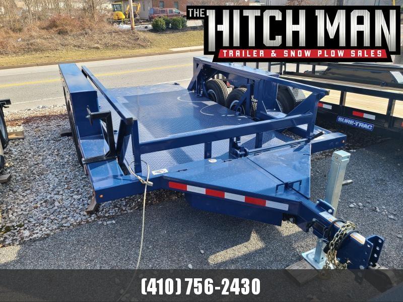 "6'3"" x 14' Air-Tow T14-10 Drop Deck Flatbed Equipment 13.5k"