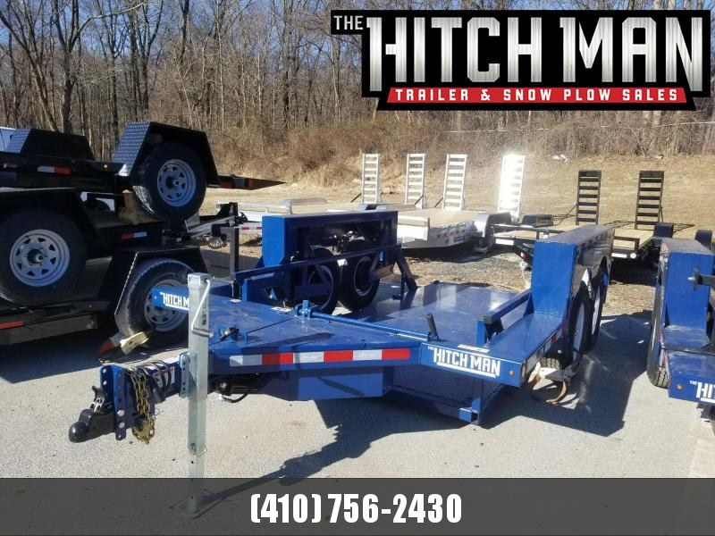 "6'3"" x 14' Air-Tow T14-10 Drop Deck Flatbed Equipment 13.5k"