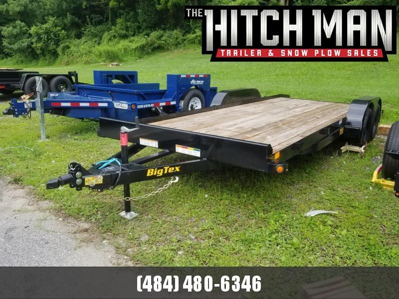 7 x 20 Big Tex Wood Deck Car Hauler 7k