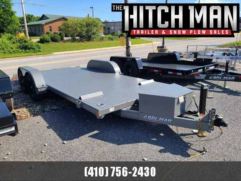 7 X 18 Bri-Mar Hydraulic Tilt Car Hauler 10K **w/Winch Plate