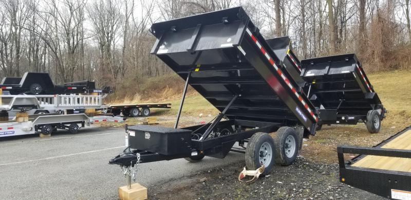 6 x 10 Sure-Trac SD Deckover Dump Trailer 10k
