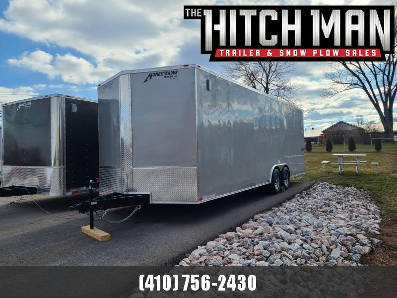 "8.5' x 24' Homesteader Intrepid V-Nose Cargo Trailer, 10K **Silver w/6"" Extra Height"