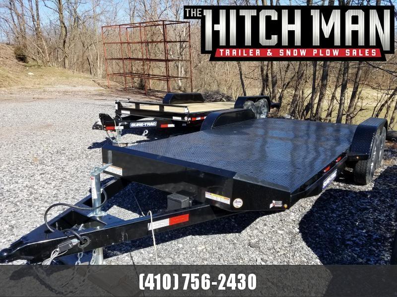 7 x 18 Sure Trac Steel Deck Car Hauler, 7K