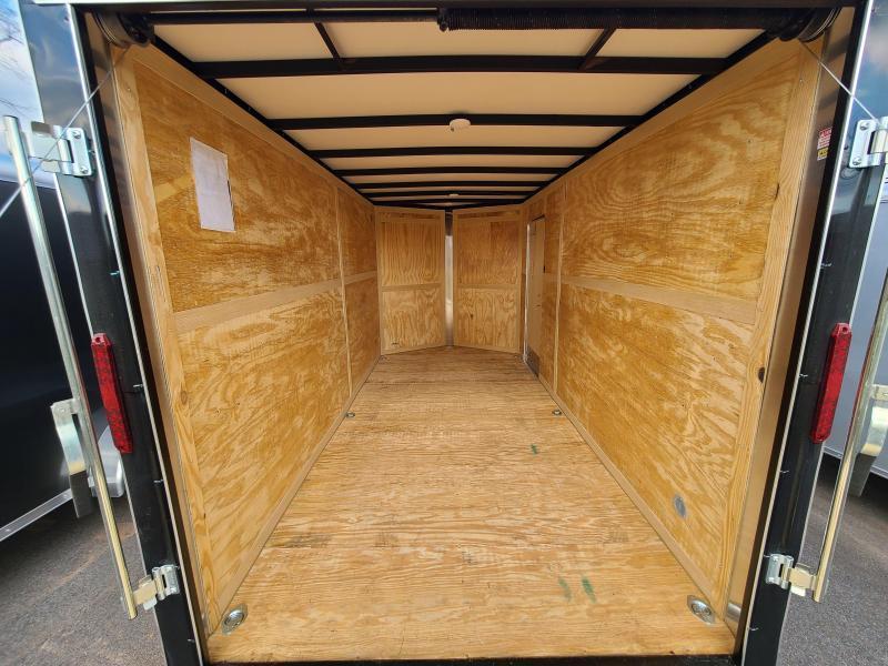 "7 x 16 Homesteader Intrepid OHV V Nose Cargo 7K *BLACK* 12"" Extra Height"
