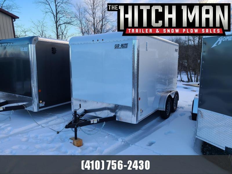 "7 x 12 Car-Mate Custom Cargo 7k **White w/6"" Extra Height"